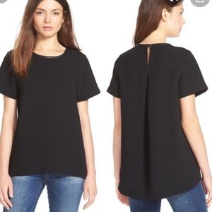 Madewell Black Button Close Tunic Top
